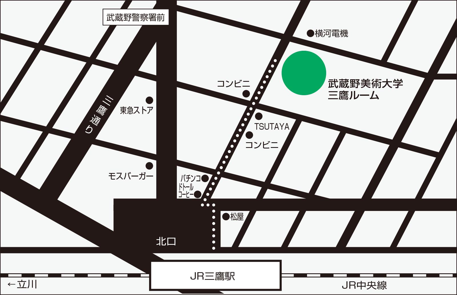 三鷹ルームの地図